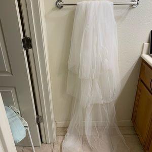 Three tier wedding veil with comb